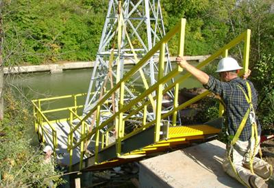 Stair Platform FRP Grating