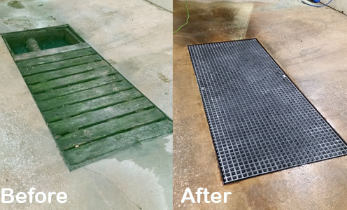 Fiberglass Grating in a Car Wash